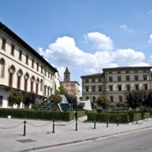Typical downtown square in Arezzo.